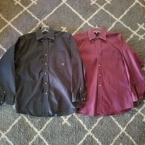 Ariat button down shirt lot